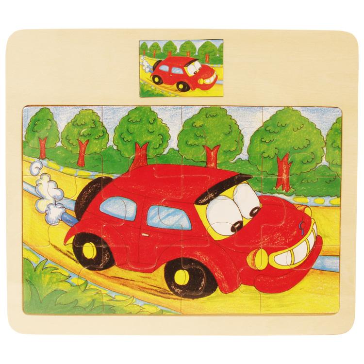 Puzzle 12 piese , masina-0
