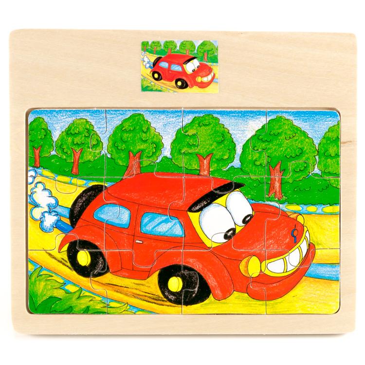 Puzzle 12 piese , masina-5425