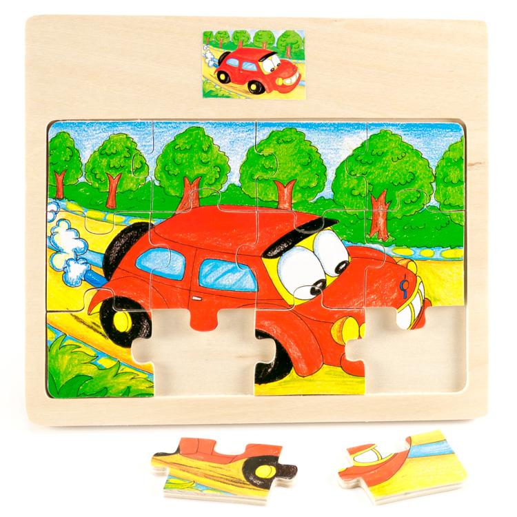 Puzzle 12 piese , masina-5426