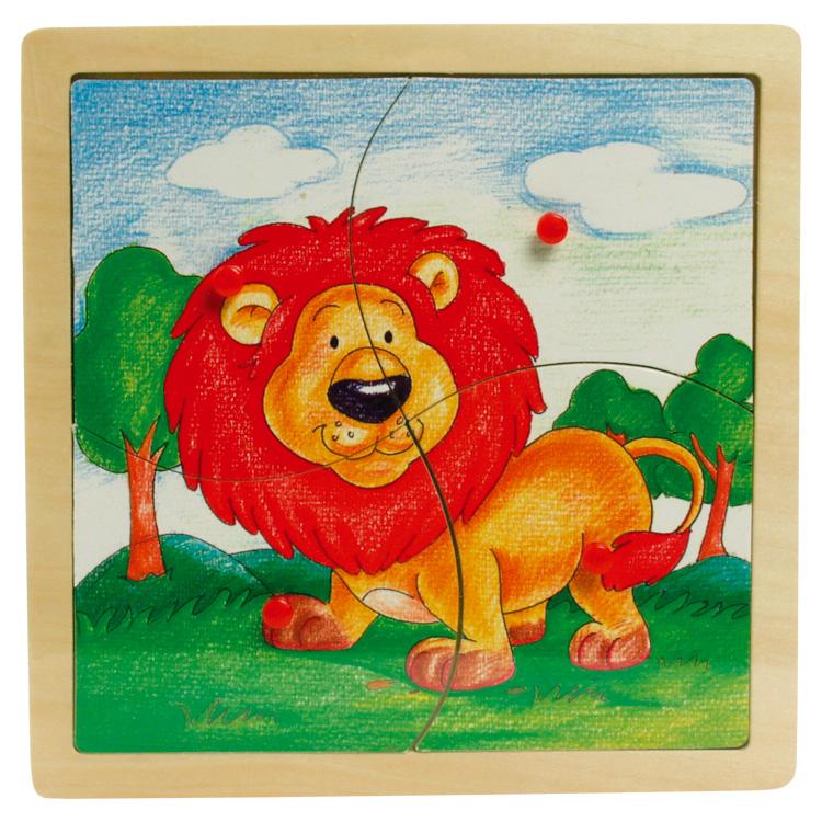 Puzzle cu butoane leul-0
