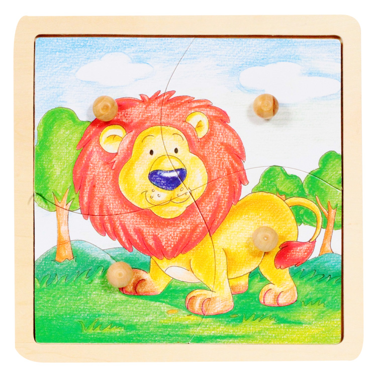 Puzzle cu butoane leul-5428
