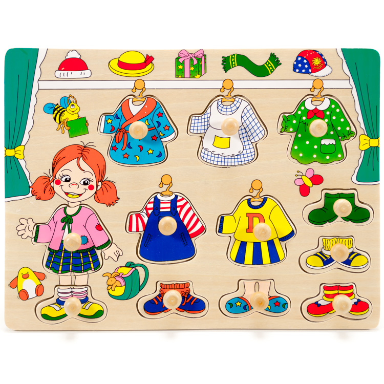 Puzzle sa imbracam fetita-5258