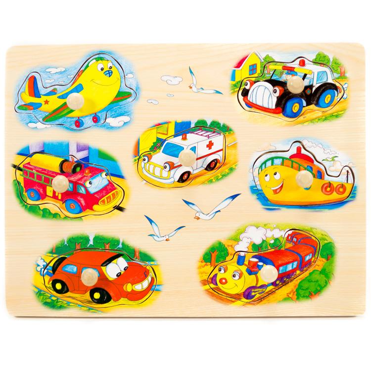 Puzzle cu butoni vehicule-5436