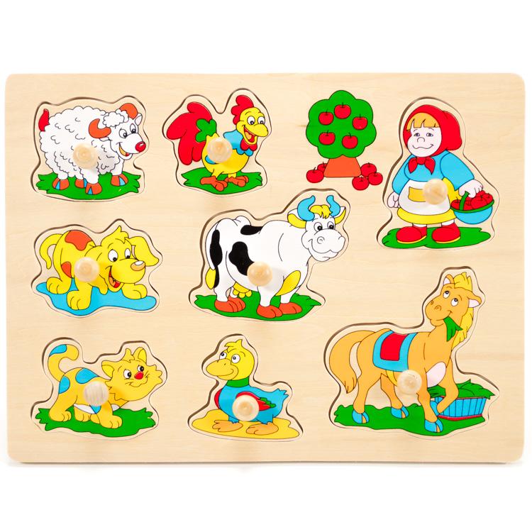Puzzle cu butoni animale -0