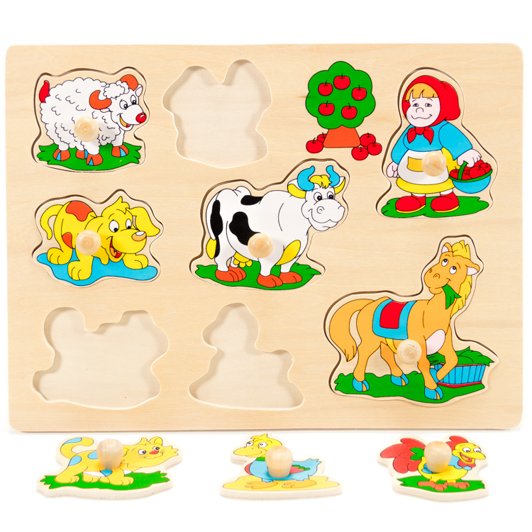 Puzzle cu butoni animale -5420