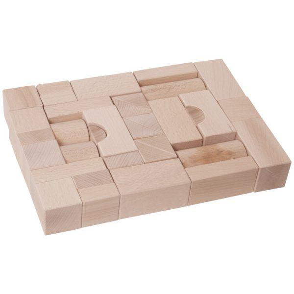 Cuburi lemn natur -0