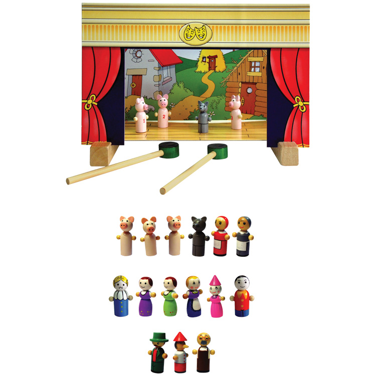 Mini teatru de papusi cu magnet-0