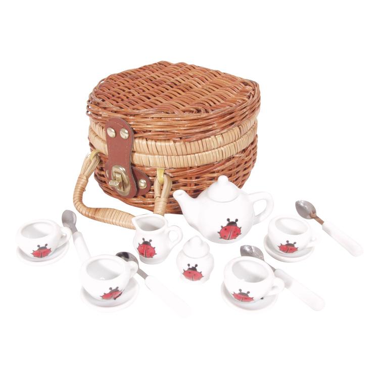 Mini set picnic 17 piese portelan alb -0