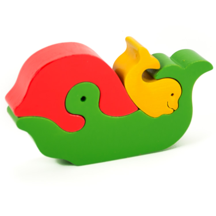 Puzzle zoo balena cu pui -0