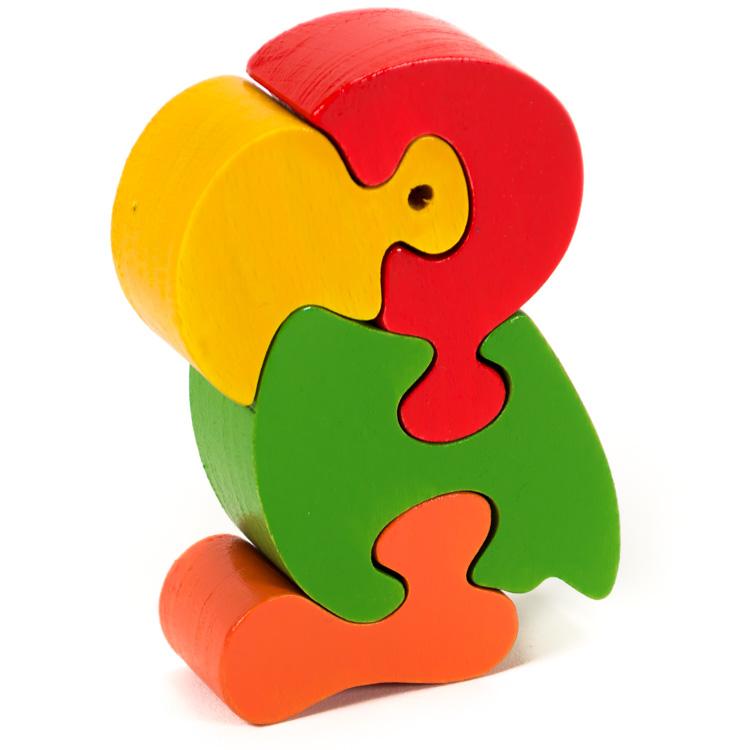 Puzzle zoo papagal-0