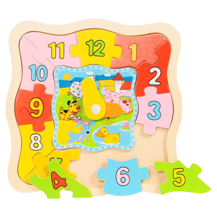 Puzzle ceas dreptunghiular-0