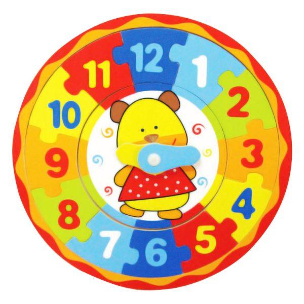 Puzzle ceas rotund-0