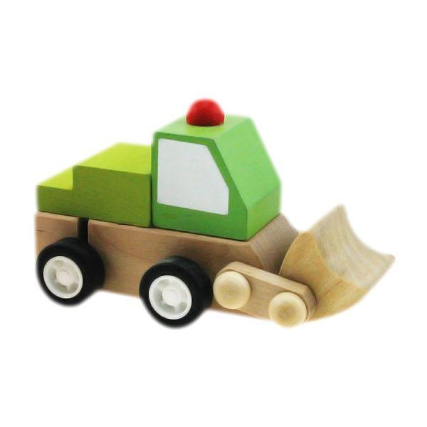 Mini excavator verde cu rotita-0