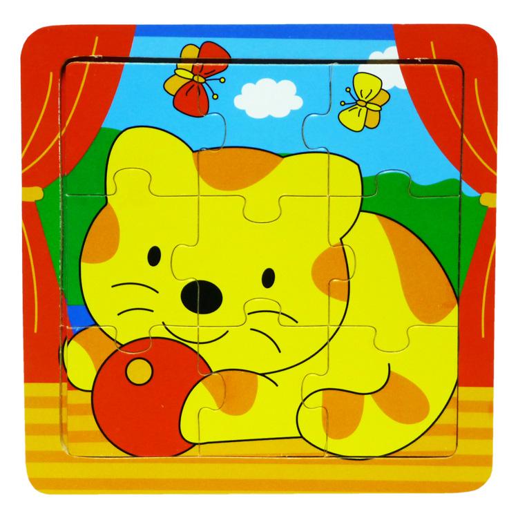 Puzzle 9 piese , pisica-0