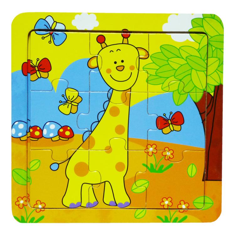 Puzzle 9 piese , girafa-0