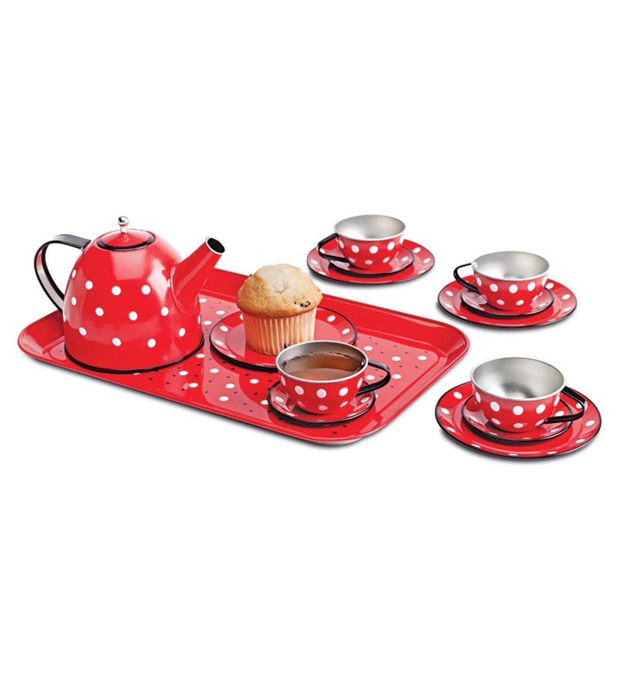 Set ceai cu bulinute-5459