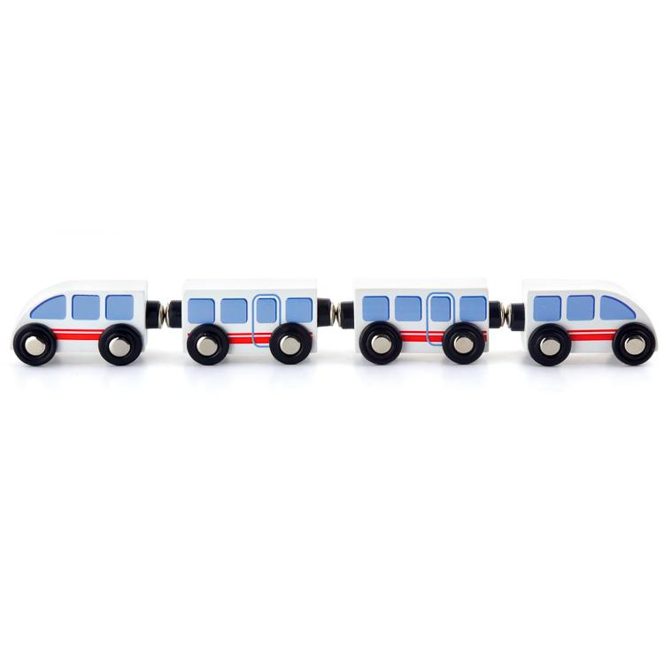 Accesoriu pentru tren: tren alb de mare viteza-0