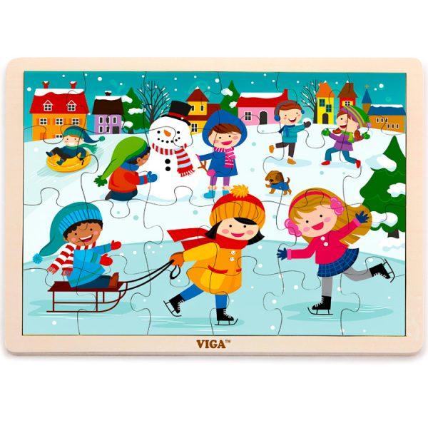 Puzzle iarna 24 de piese -0