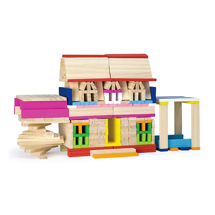 Set Bloc constructie lemn 250 piese -5480